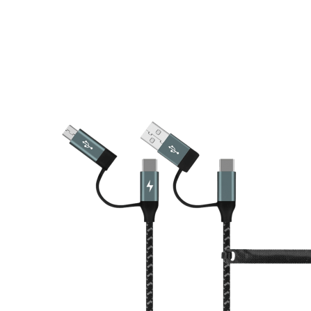 OneLink 4 in 1(USB-A/Type-C to Micro USB/Type-C) Kabel (1.2M)
